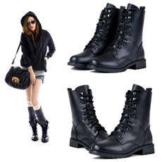 ankle boots, Fashion, Lace, Combat
