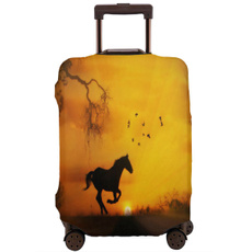 trolleycase, brown, suitcasecover, Luggage