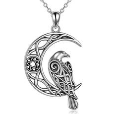 Sterling, birdnecklace, Chain Necklace, celticknot