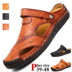 Summer, Plus Size, lazyshoe, leather