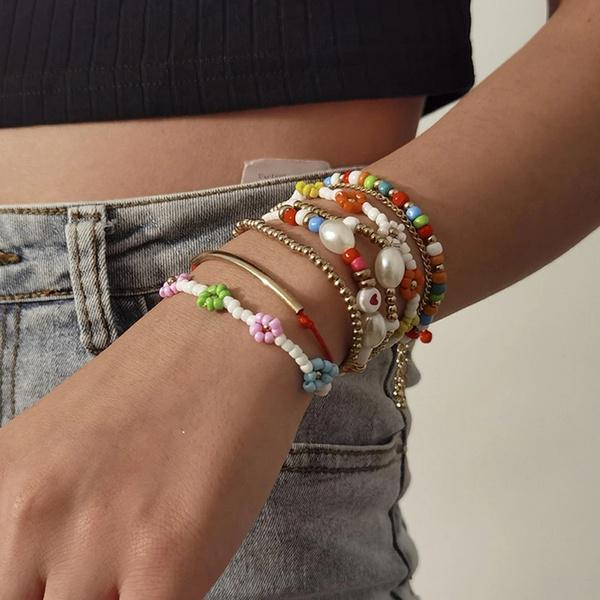 bohemianjewelry, Heart, Flowers, Jewelry