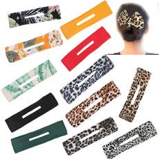 Summer, Head Bands, hairbun, leopard print