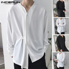 Summer, white shirt, Dress Shirt, menblouse