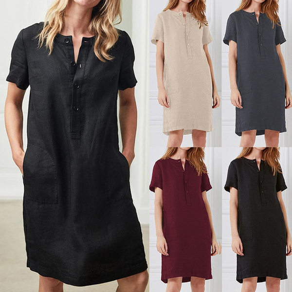 Mini, short sleeve dress, Tunic dress, short sleeves
