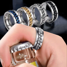 Couple Rings, Steel, stresstoy, anxietytoy