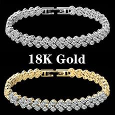 Charm Bracelet, Crystal Bracelet, DIAMOND, Chain bracelet