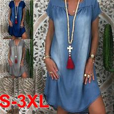 Summer, Fashion, Dress, shortssleevedres