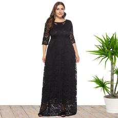 Plus Size, Мереживо, Рукав, Evening Dress