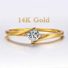 Fashion, wedding ring, gold, unisex