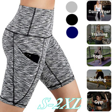 Summer, Shorts, Yoga, high waist