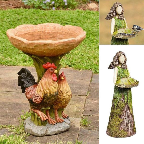 chickenstatue, Decor, Outdoor, Garden