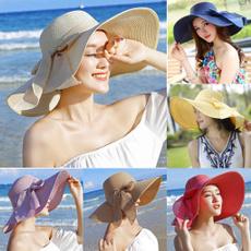 bowknot, brimhat, Fashion, Beach hat