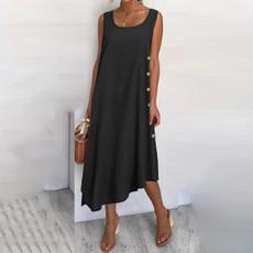 dressforwomen, long skirt, Plus Size, cottonlinendres
