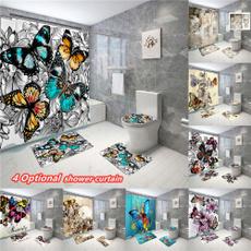 butterfly, decoration, Bathroom, 3dshowercurtain