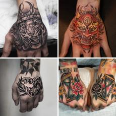 tattoo, waterprooftattoosticker, tattoostickeronbackofhand, flowerarm