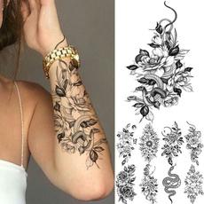 tattoo, Flowers, Rose, Stickers