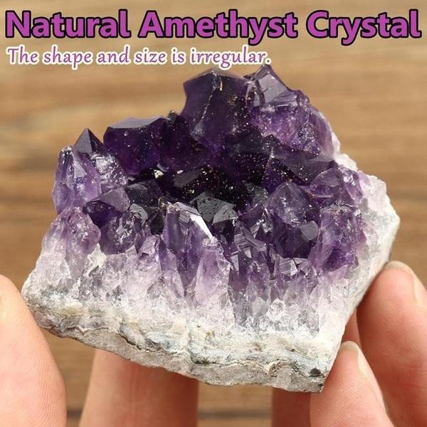 purple, crystalcluster, quartzcrystal, Home Decor