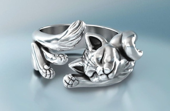 promring, cute, Pearl Ring, animalring