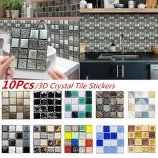 Stickers, crystaltilesticker, bathroomdecor, Waterproof