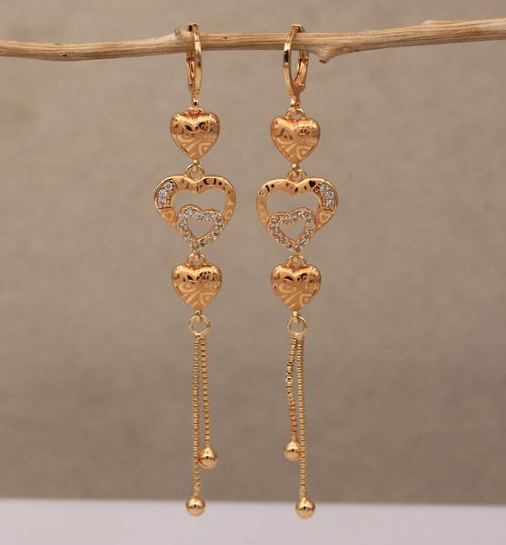 Dangle Earring, Heart, Tassels, Fashion