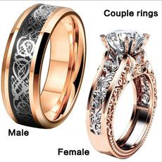 Sterling, platinum, DIAMOND, 925 silver rings