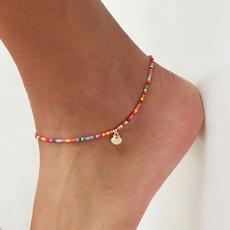 Summer, beadsanklet, Anklets, gold
