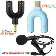 Splitter, Microphone, cliponmicrophone, Adapter