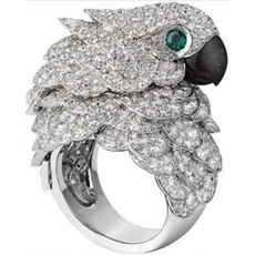 cute, crystal ring, mensandwomensring, wedding ring