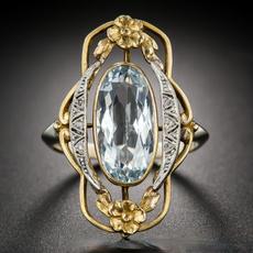 18 k, Vintage, DIAMOND, 925 silver rings