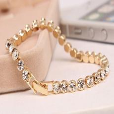 goldplated, Beaded Bracelets, Romantic, Chain