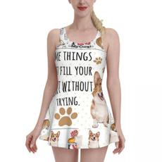 bathing suit, Fashion, Love, ilovemycorgiwomensdressswimsuit