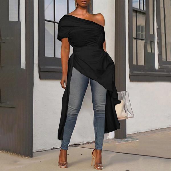 blouse, shortssleeveblouse, Plus Size, Sleeve