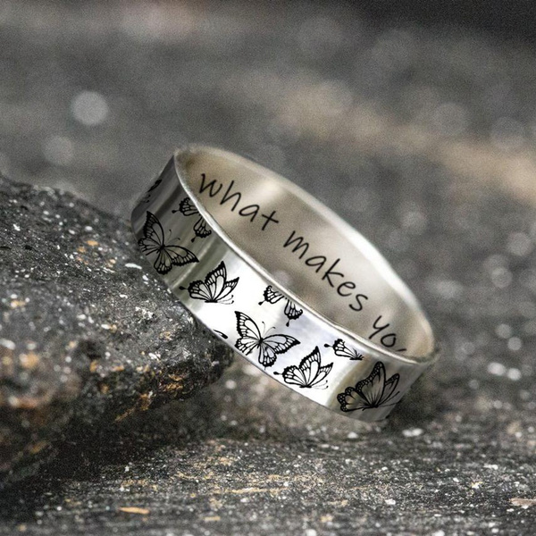 butterfly, Sterling, butterflyring, animalring