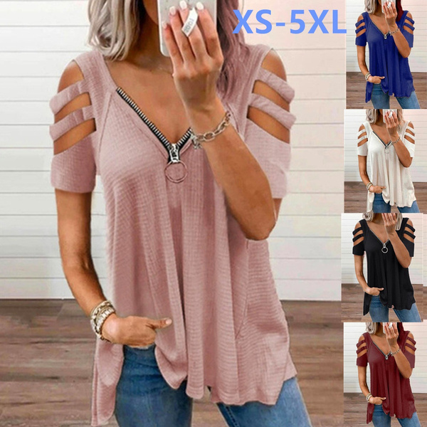 Summer, Plus Size, printed, Shirt