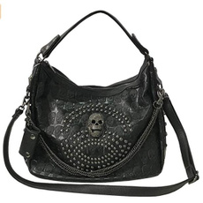 Shoulder Bags, Goth, Capacity, gothicshoulderbag