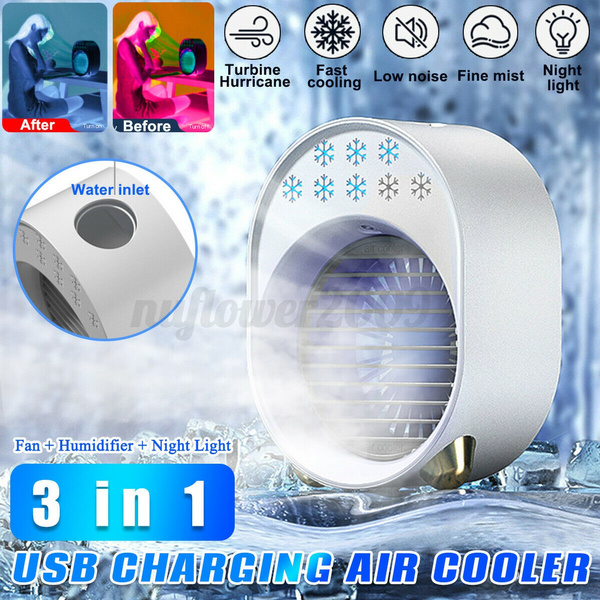 air conditioner, coolingair, portablefan, usb