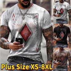 Summer, Plus Size, Graphic T-Shirt, men clothing