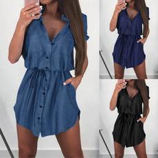 Summer, Plus Size, Mini, Shirt