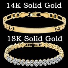 Bracelet, DIAMOND, 18ksolidgoldbracelet, gold