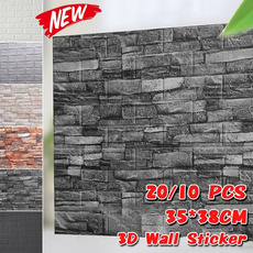 wallstickersampmural, Kitchen & Dining, 3dwallsticker, 3dbrickpatternwallpaper