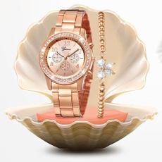 Fashion, rosegoldwatch, gold, Bracelet Watch