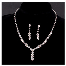 DIAMOND, Jewelry, Bridal Jewelry Set, Ladies Fashion