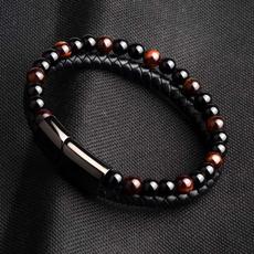 Steel, Tiger, Beaded, ethnicstylebracelet