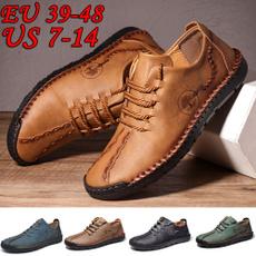 breathablesandalsmen, summershoesformen, leather, Plus Size