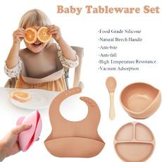 childsuckerandspoon, babysiliconetableware, Waterproof, Silicone