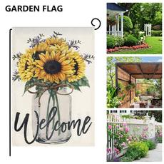 Seasonal, Summer, gardenflag, welcomegardenflag