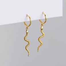 Fashion, punk earring, gold, wedding earrings