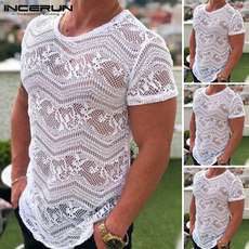 blouse, gymmuscle, sheershirt, Lace