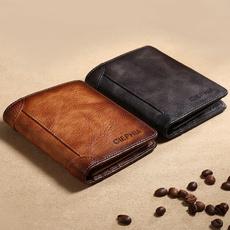 leather wallet, shortwallet, Shorts, Vintage