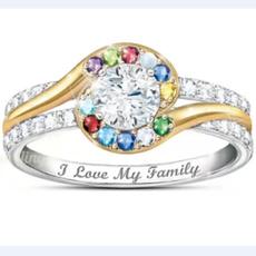 Sterling, DIAMOND, letterring, wedding ring
